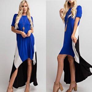 5⭐️⭐️⭐️⭐️🌟New💕 Hi Low Color Block Maxi Dress